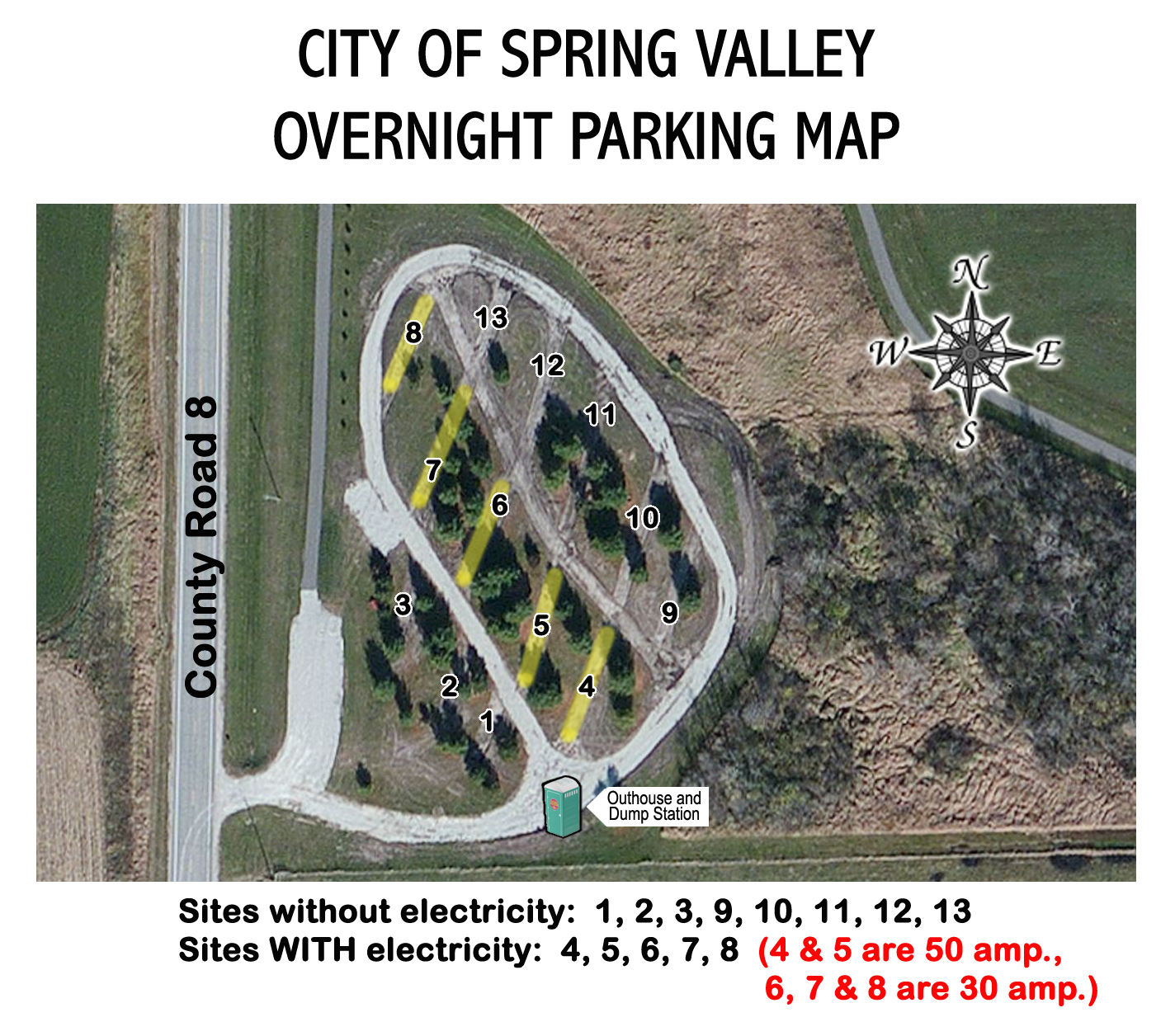 RV Parking Form and Map - City of Spring Valley, MN